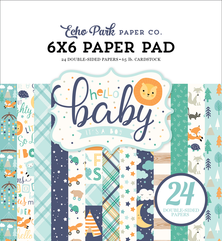 BB172023 Hello Baby Boy Paper Pad Cover