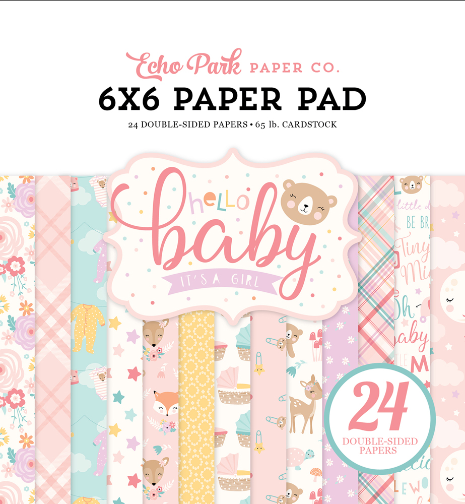BG171023 Hello Baby Girl Paper Pad Cover