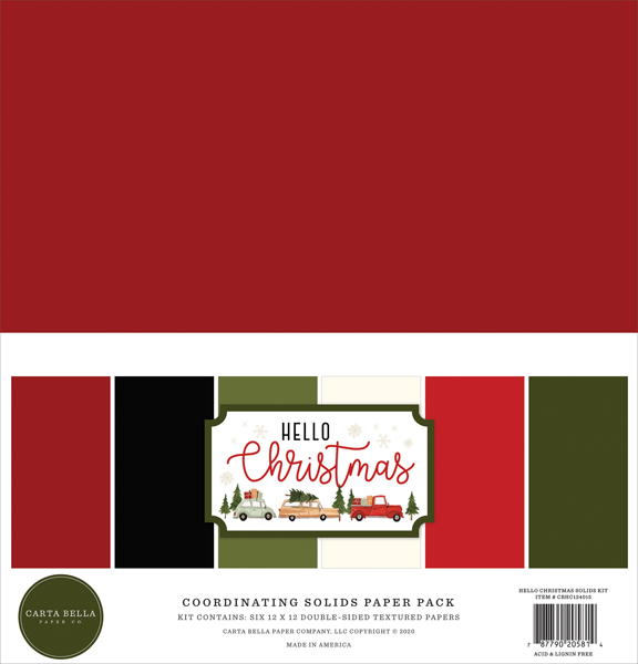 CBHC124015 Hello Christmas Solids Kit