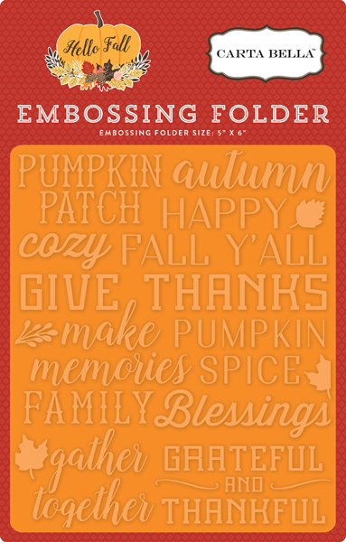 CBHF70031 Embossing Folder - Give Thanks