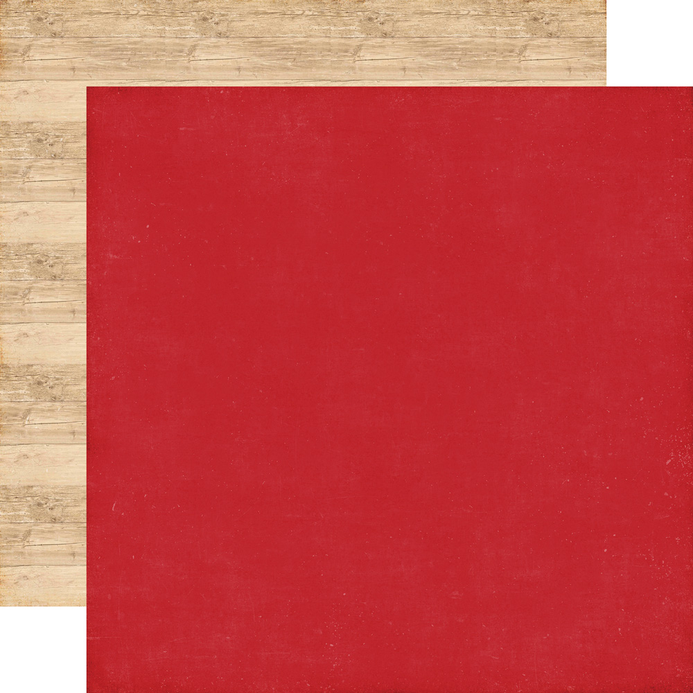 ILC114019 Red / Woodgrain - Coordinating Solid