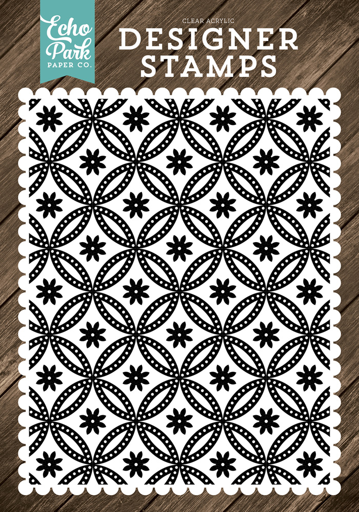 ILF113045 Quilted Floral A2 Stamp