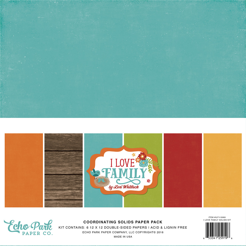 ILF113060 I Love Family Solids Paper Pack