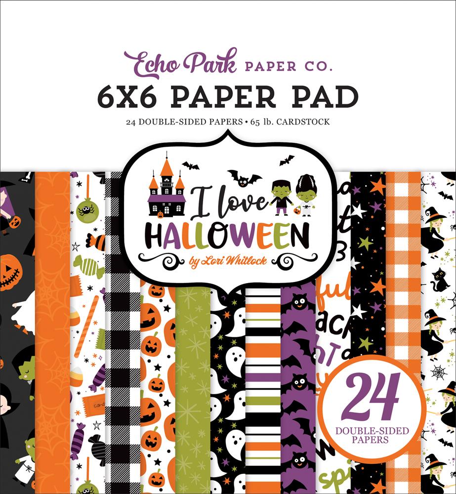 """Nouveau Echo Park 6/"""" x 6/"""" Paper Pad I Love Pâques"""