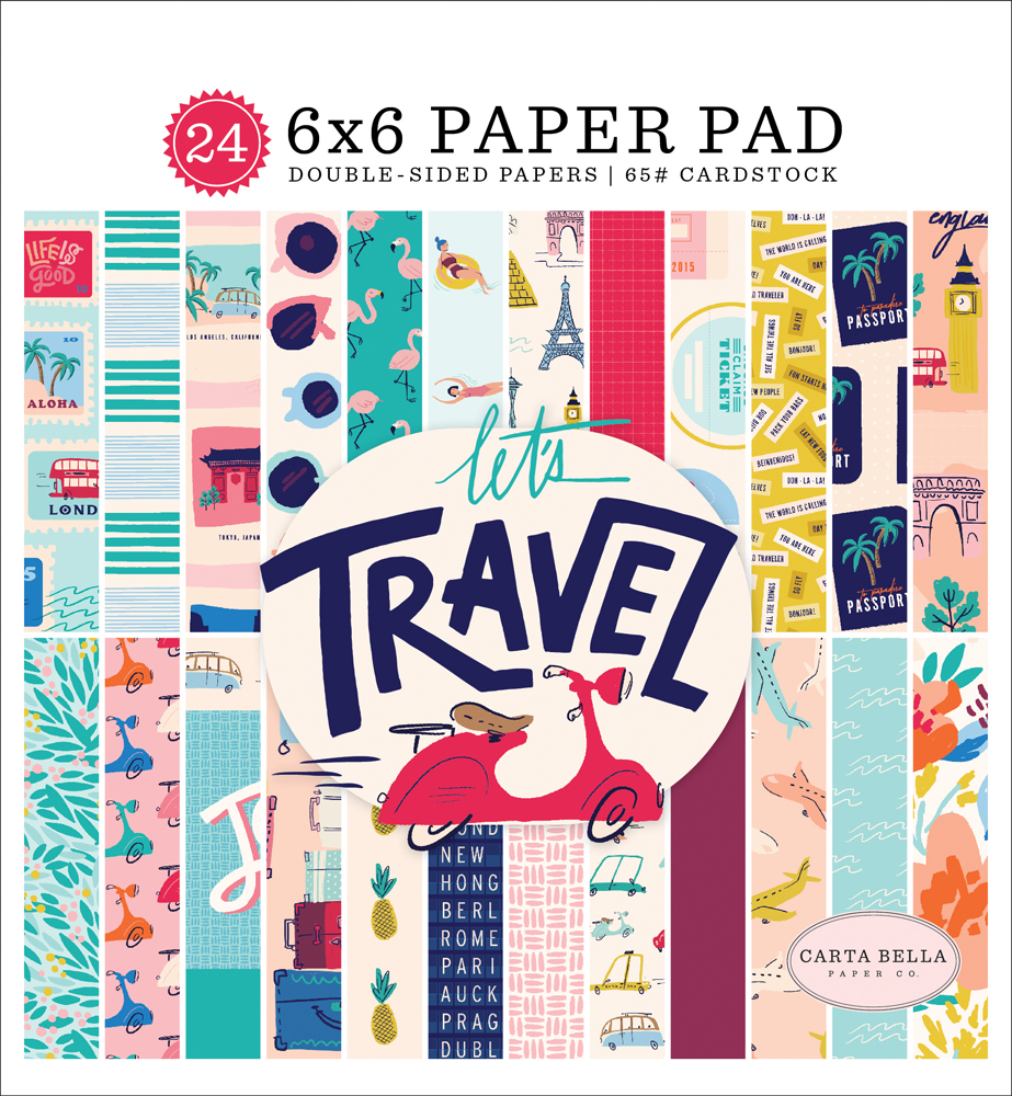 CBLT100023 Let's Travel Paper Pad Cover