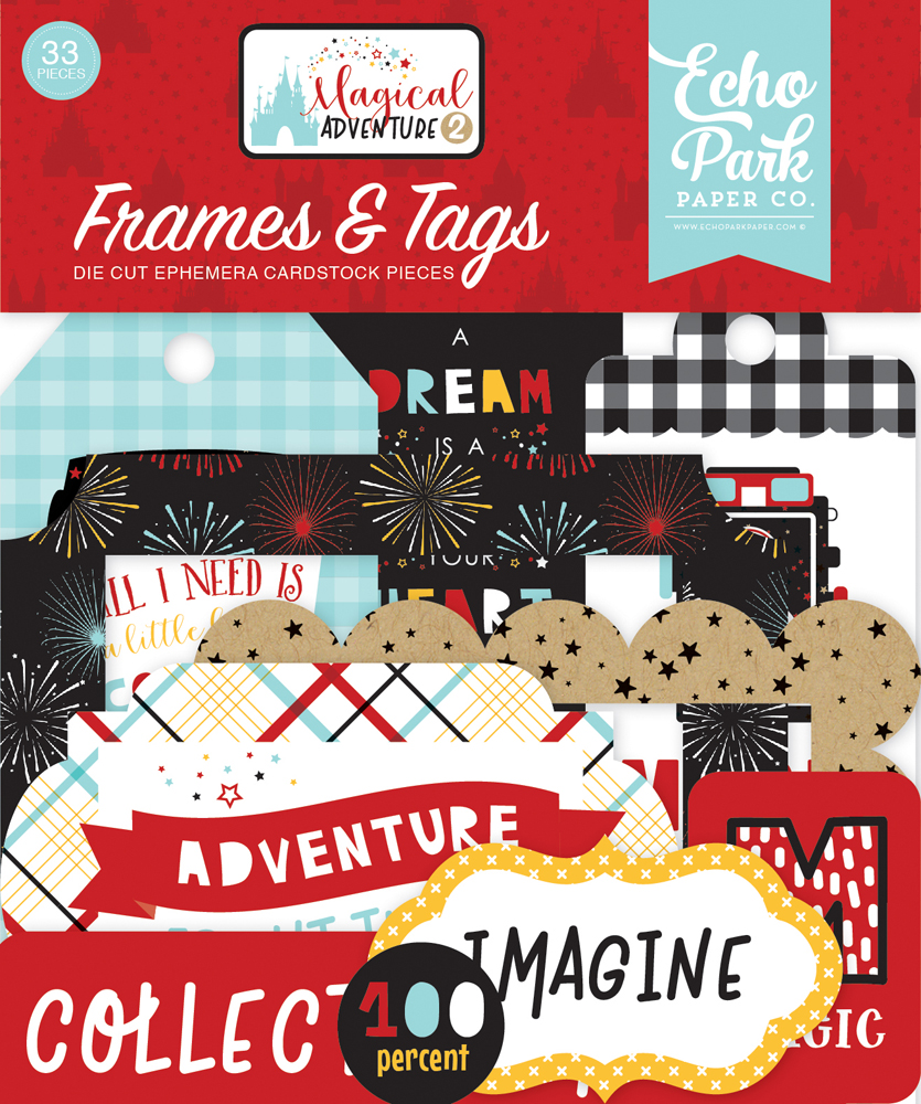 MAG177025 Magical Adventure 2 Frames & Tags Ephemera