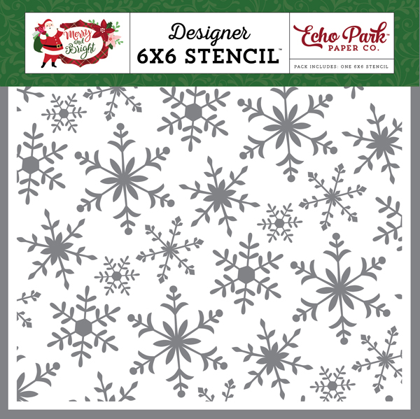 MB160034 Cheery Snowflakes Stencil
