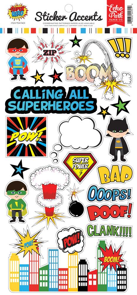 Sw7401 super hero sticker