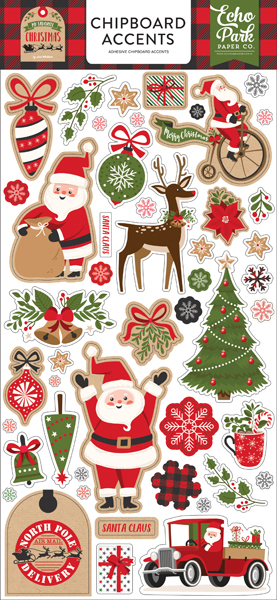 MFC190021 My Favorite Christmas Chipboard Accents