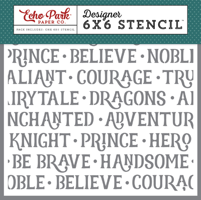 OUB123036 Noble Knight Word Stencil