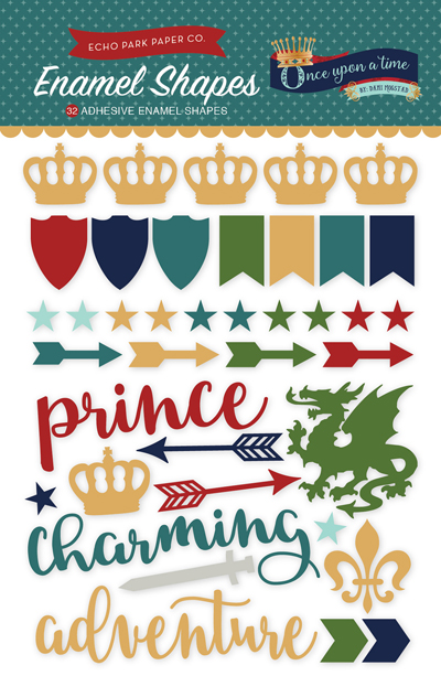 OUB123061 Once Upon A Time - Prince Enamel Shapes