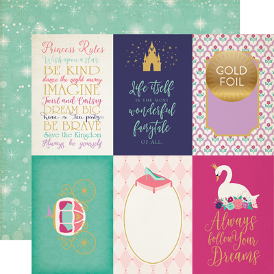 OUG122009 4X6 Journaling Cards - Gold Foil