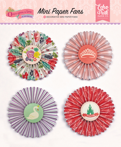 OUG122063 Once Upon A Time - Princess Mini Paper Fans