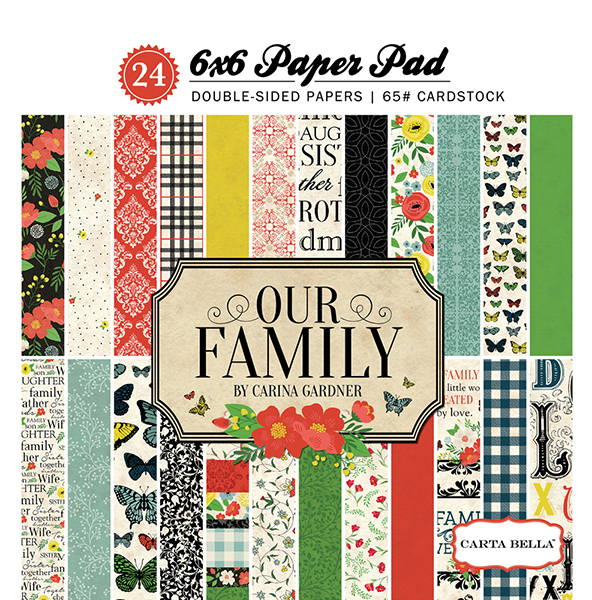 CBOF75015 Our Family 6x6 Paper Pad