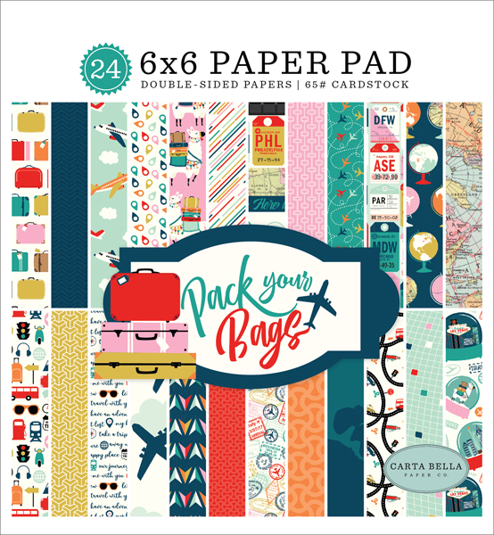CBPYB86023 Pack Your Bags 6x6 Paper Pad Cover