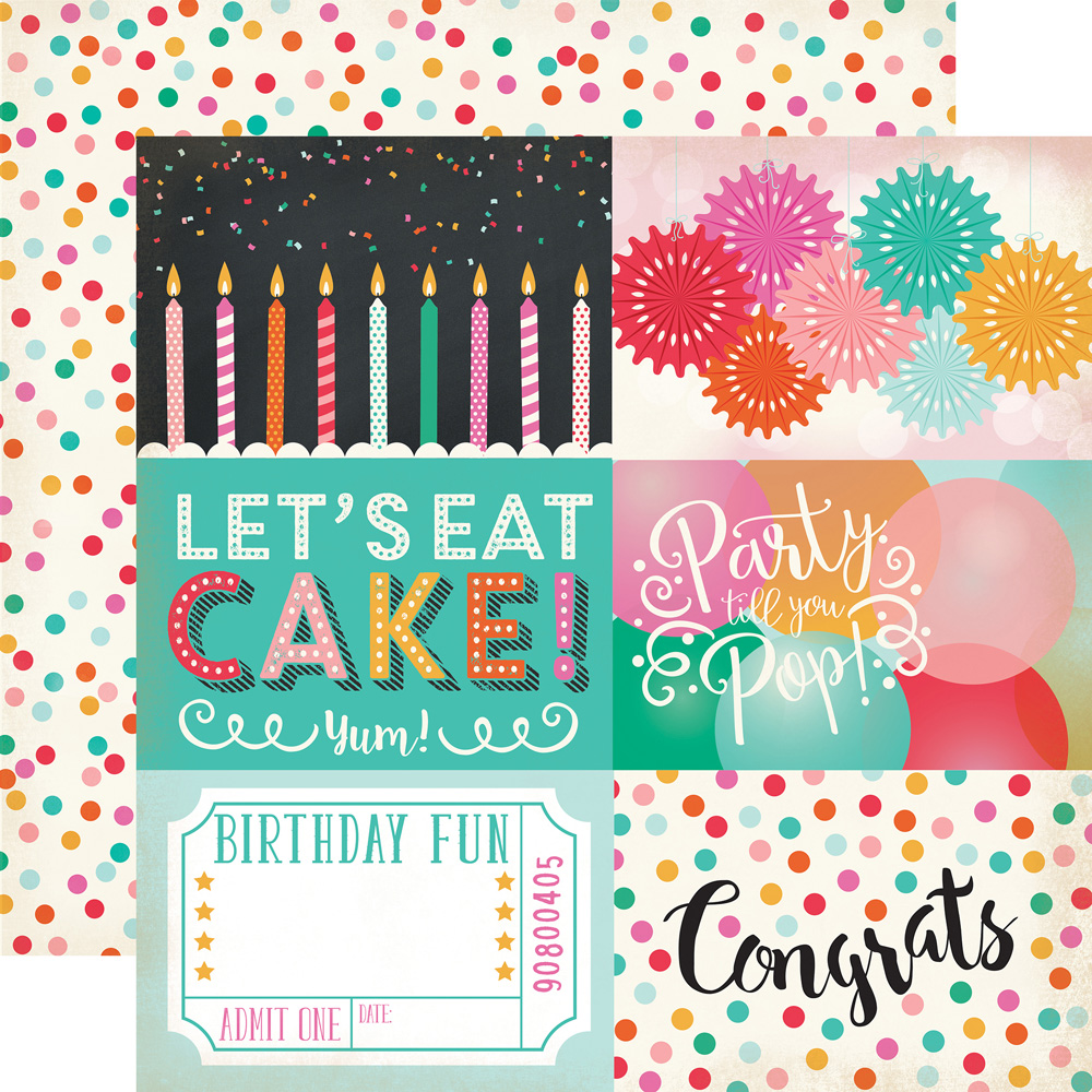 create a  u0026quot party time u0026quot  birthday layout