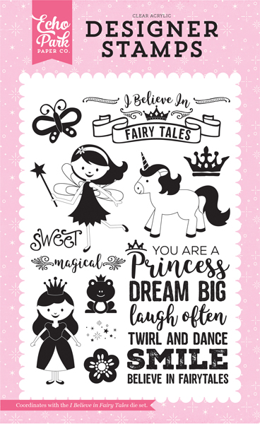 PP130045 I Believe In Fairy Tales 4X6 Stamp