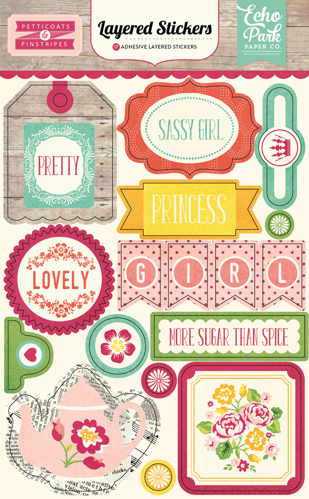 PC103025 Petticoats Layered Stickers