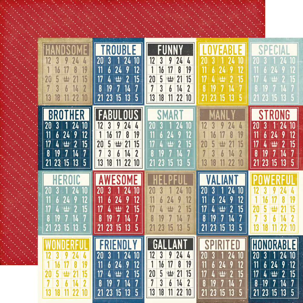 Scrapbook paper collections - Ps104009 Makes Cents Ps104010 Boy Bingo Cards