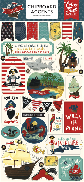 PTA176021 Pirate Tales 6x13 Chipboard Accents