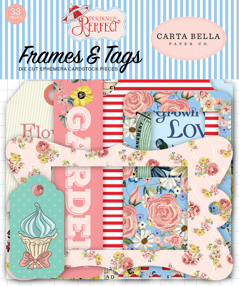 CBPP81025 Practically Perfect Frames & Tags Ephemera