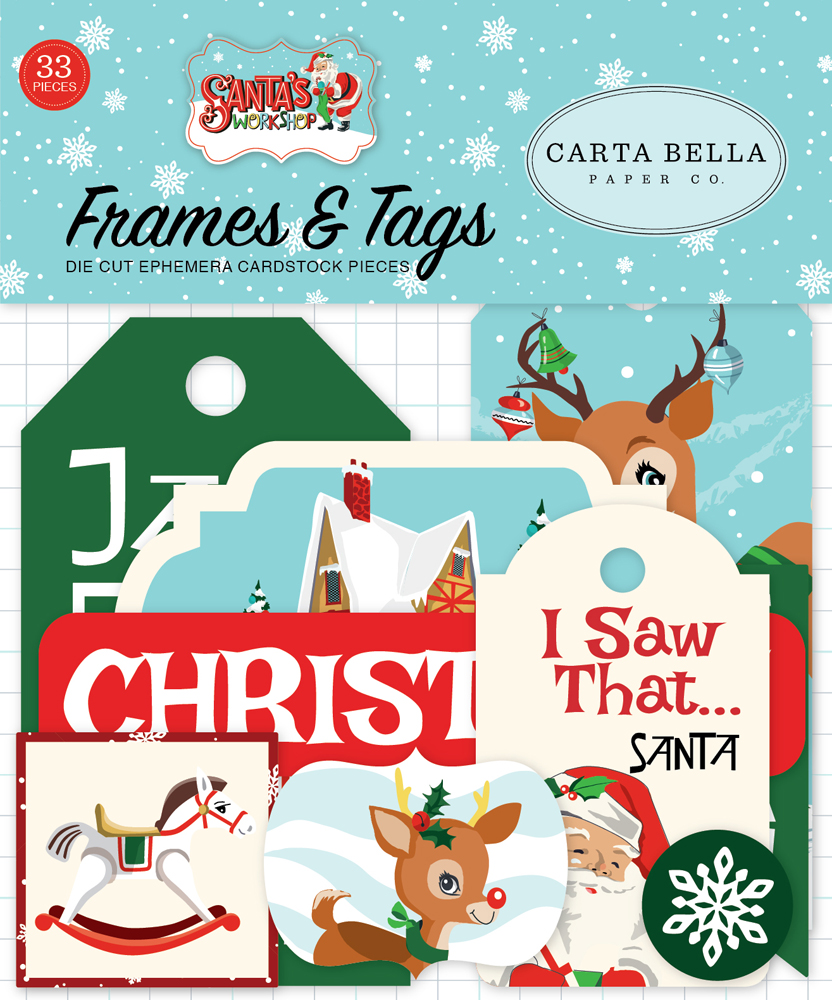 CBSW90025 Santa's Workshop Frames & Tags Ephemera