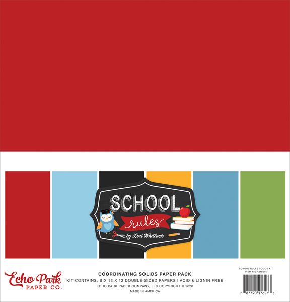SCR215015 School Rules Solids Kit