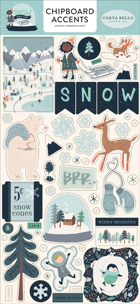 CBSMF108021 Snow Much Fun Chipboard Accents