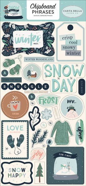 CBSMF108022 Snow Much Fun Chipboard Phrases