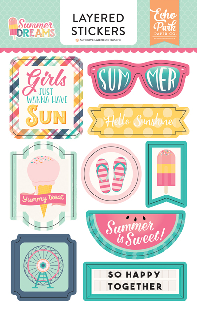 DR126025 Summer Dreams Layered Stickers