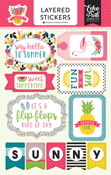 SF125025 Summer Fun Layered Stickers