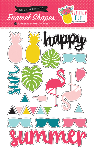 SF125061 Summer Fun Enamel Shapes