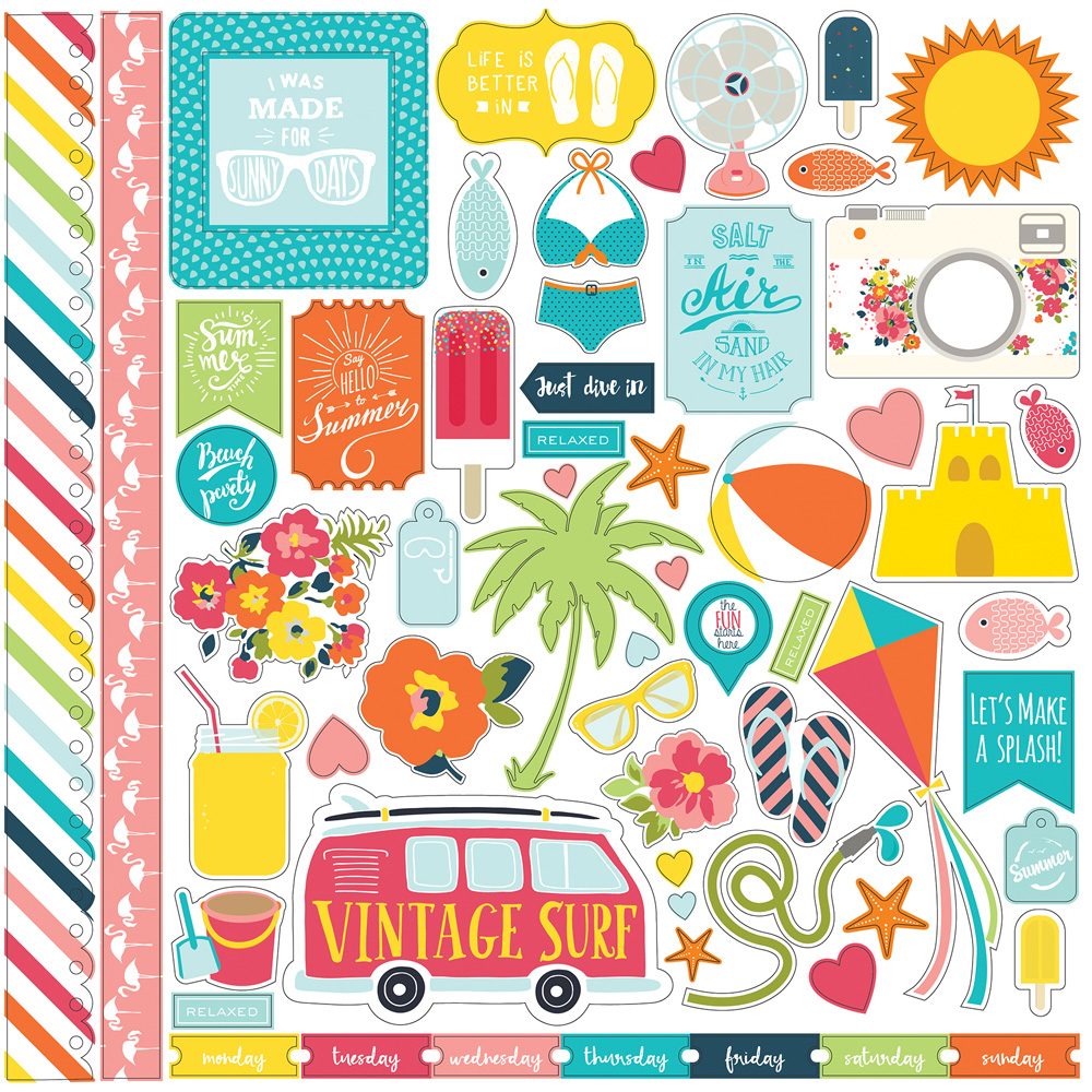 SP106014 Summer Party Element Stickers