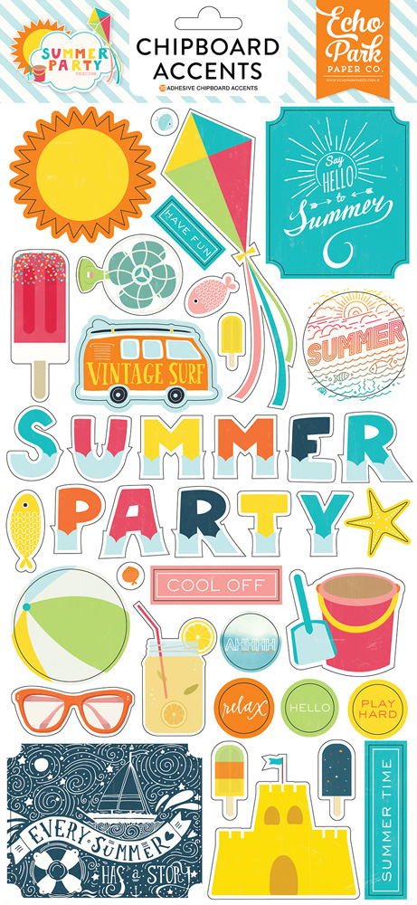 SP106022 Summer Party 6x12 Chipboard