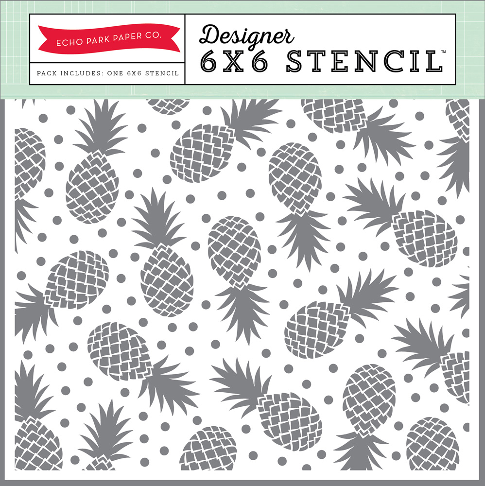SP106036 Pineapples Stencil