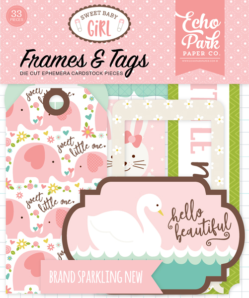 SBG142025 Sweet Baby Girl Frames & Tags Ephemera