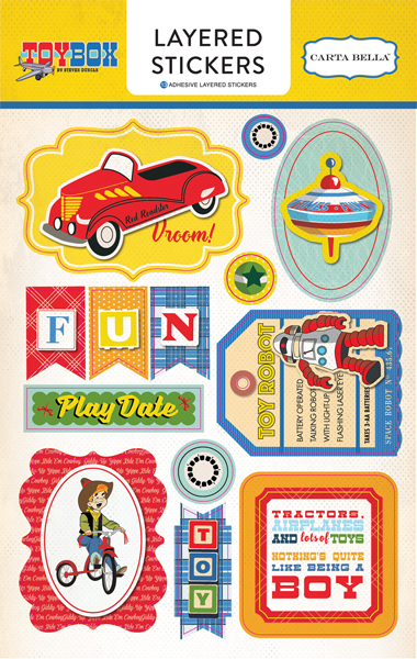 Cbtb66025 Toy Box Layered Stickers