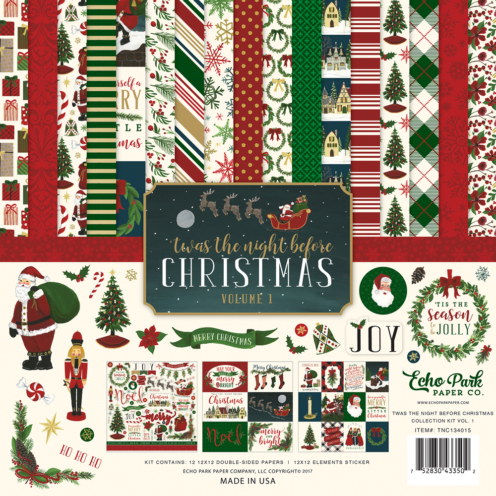 Collections   echo park paper co.   Twas The Night Before Christmas
