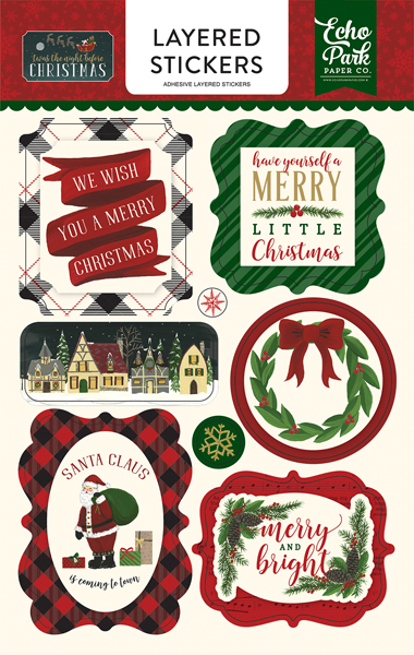 TNC134025 Twas the Night Before Christmas Layered Stickers