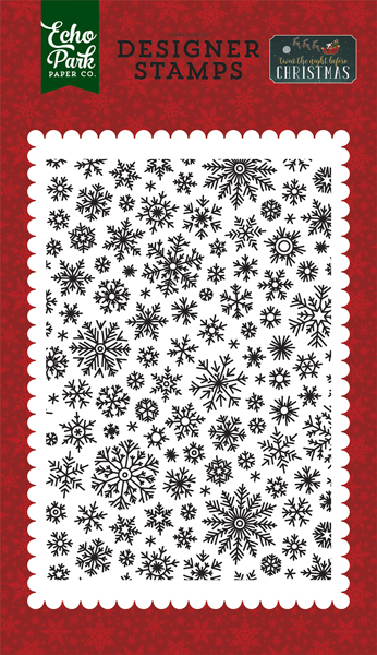 TNC134046 Shimmering Snowflakes Stamp