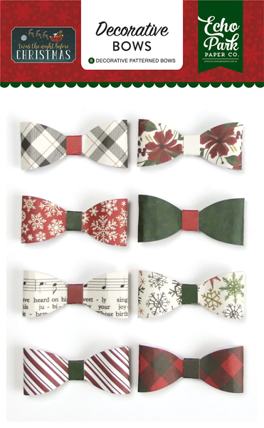 TNC134063 Twas the Night Before Christmas Decorative Bows