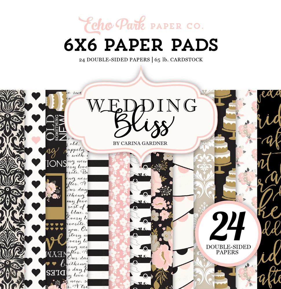 Wb129015 Wedding Bliss 6x6 Paper Pad