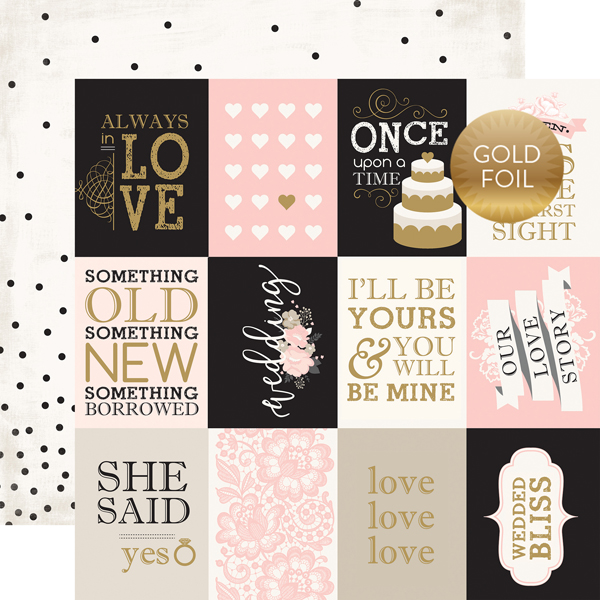 WB129006 3X4 Journaling Cards - Foil