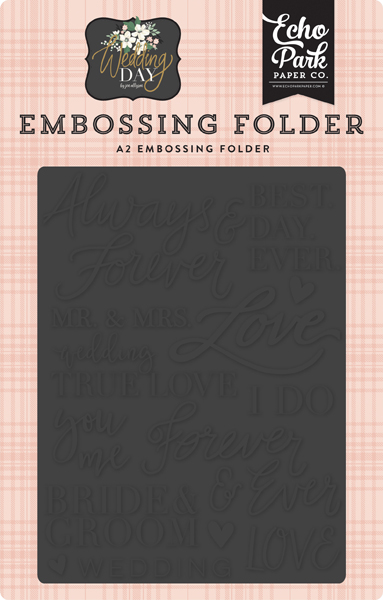 WD181031 Always and Forever Embossing Folder