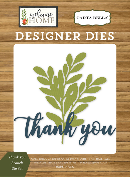 CBWHO74044 Thank You Branch <br>Die Set