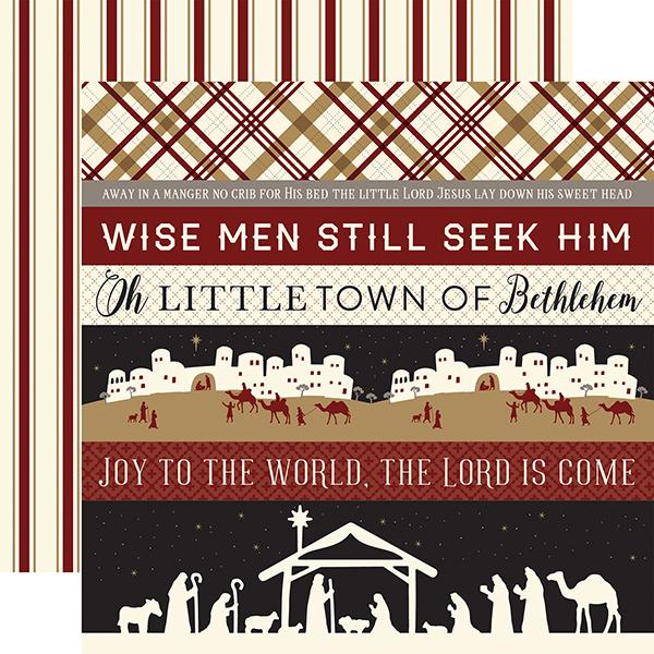 Echo Park Paper Company Wise Men Still Seek Him Enamel Words /& Phrases