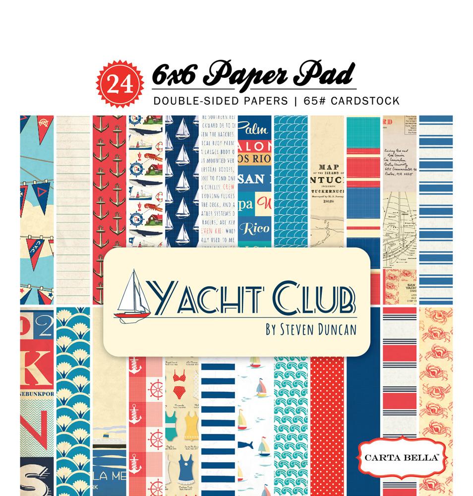 Echo Park Paper Company CBYC52015 Carta Bella Yacht Club 6x6 Paper Pad