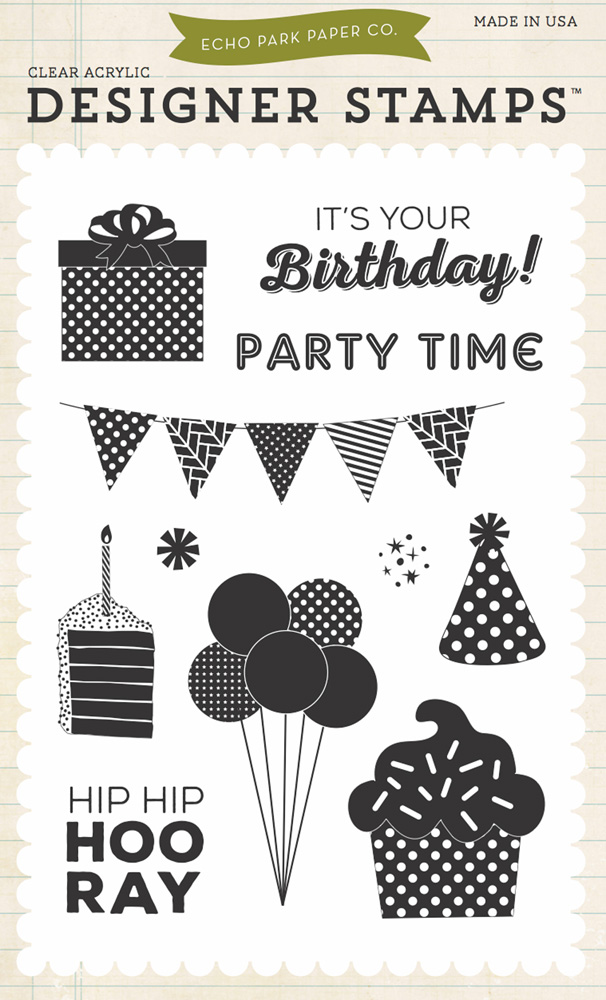 BDB84034 Party 4x6 Stamp