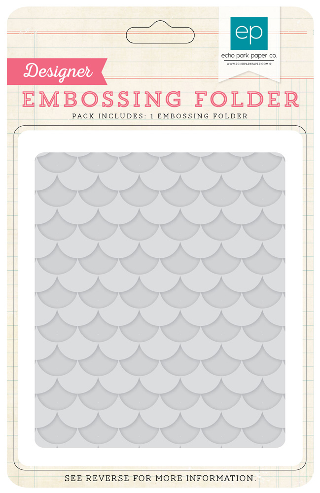 BDB84036 Embossing Folders - Layered Scallops