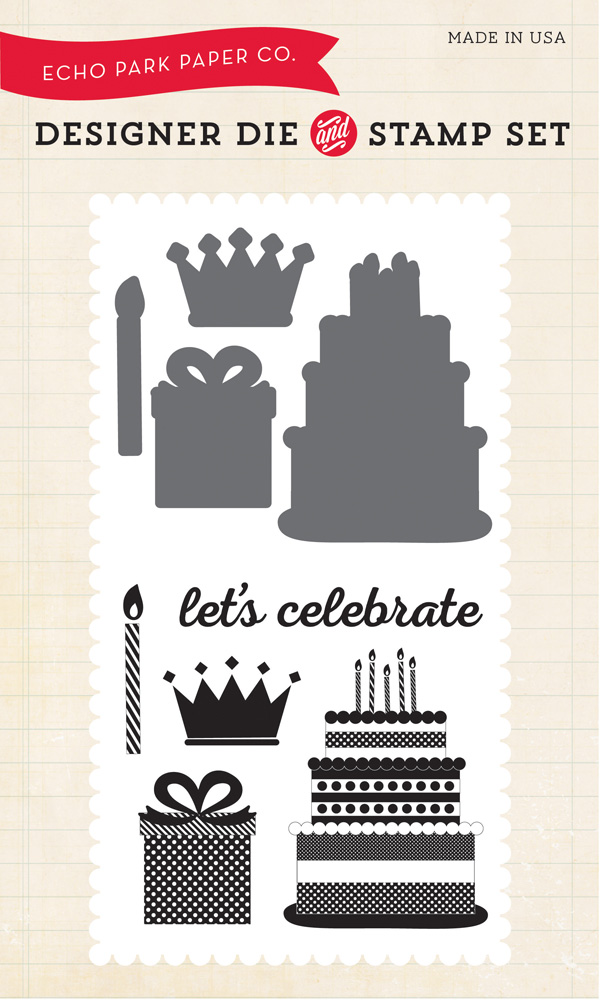 BDG85034 Birthday Celebration Die / Stamp
